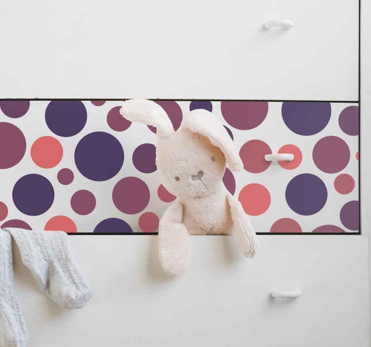 Naklejka dekoracyjna okręgi na szafę