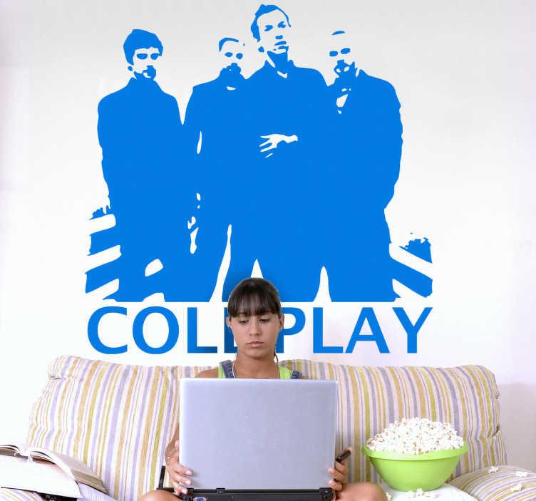 Naklejka na ścianę Coldplay