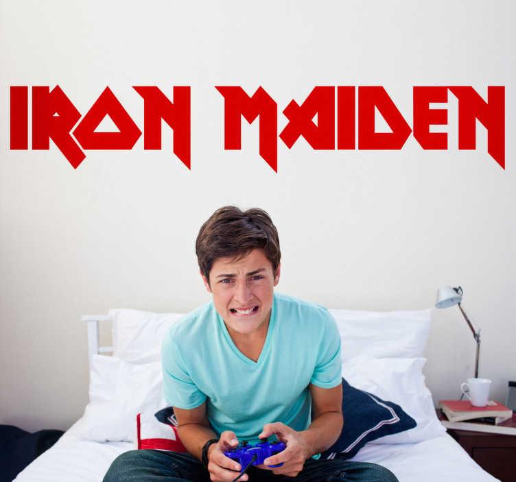 TenStickers. Iron Maiden Aufkleber. Sind Sie ein Iron Maiden Fan? Dann ist dieses Wandtattoo wie für Sie gemacht.