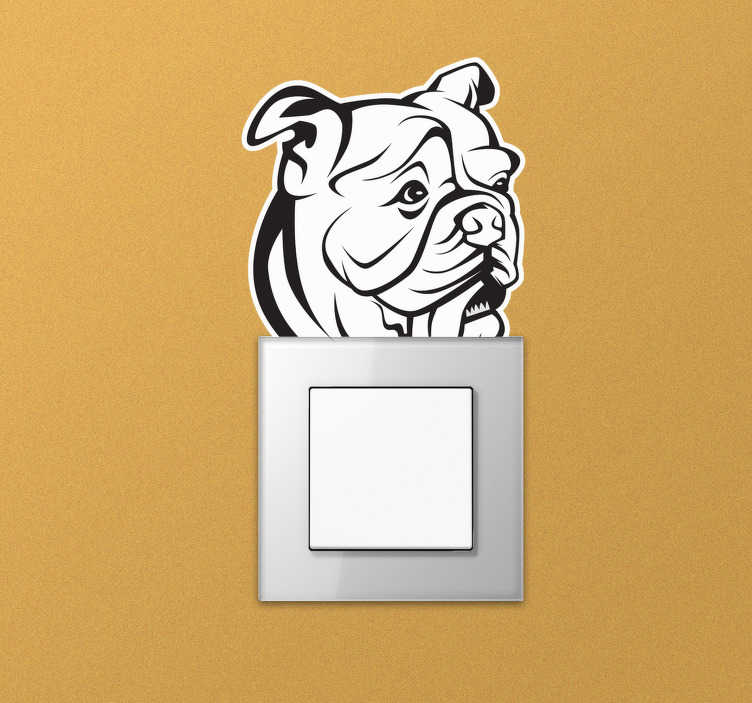 TenStickers. English bulldog wall decor. An English bulldog wall sticker design in an art drawing form that will be nice on any flat surface. This design is finished in high quality matte.