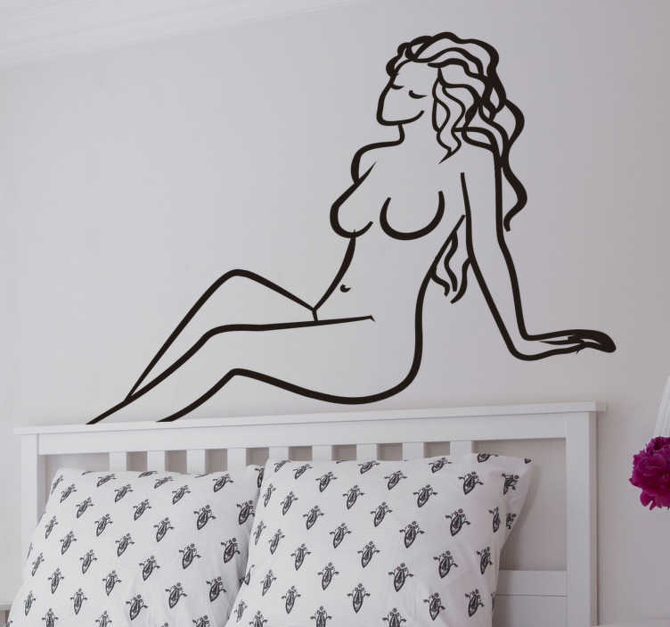 TenStickers. sexy woman Adult Wall Sticker. A sexy adult woman wall drawing sticker design of a nude lady with all her  private features well defined. This will be suitable for the bedroom.