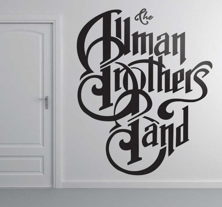 TenVinilo. Vinilo decorativo logo Allman Bros. Adhesivo de la banda de rock sureño: The Allman Brothers Band. Famosos por sus directos y por su estilo de música entre el blues, jazz, y el rock and roll.
