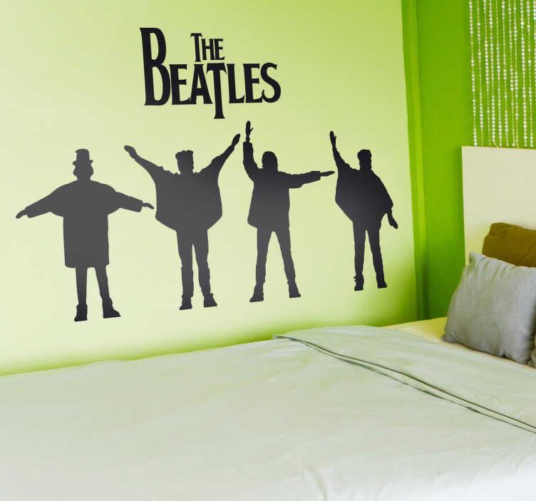 TenVinilo. Vinilo decorativo logo Beatles Help. Adhesivo con la portada de uno de los álbumes más famosos del grupo británico y banda sonora de su película Help!.