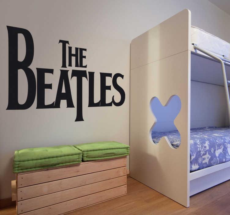 TenStickers. Autocolantes decorativos de rock Logo Beatles. Autocolante decorativo de música rock com o logo da famosa banda britânica 'The Beatles', ideal para os fãs de uma das melhores bandas da história.