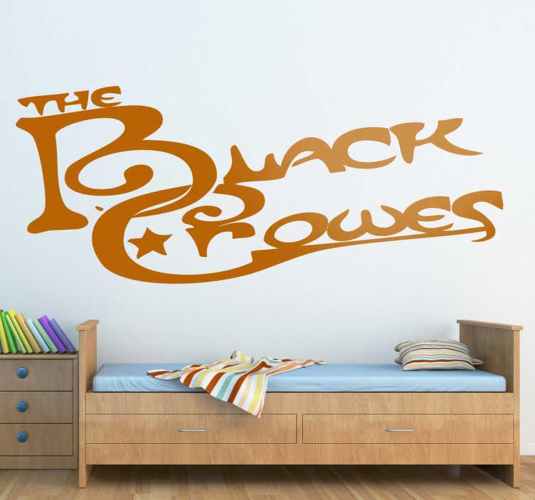 TenStickers. Sticker logo tekst Black Crowes. Een leuke muursticker van de Rockband uit de Verenigde Staten van Amerika, The Black Crowes. Opgericht door de Robinson broeders.