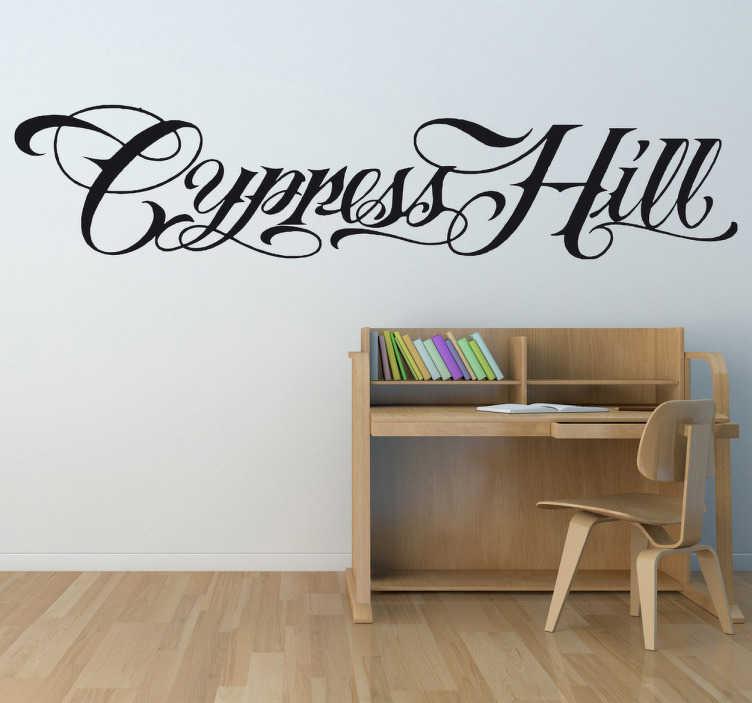 TenVinilo. Vinilo decorativo logo Cypress Hill. Adhesivo del grupo de música hip hop californiano con una amplia y exitosa carrera por todo el mundo. Cypress Hill ganadores de numerosos premios como artistas.