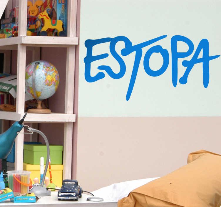 TenVinilo. Vinilo decorativo logo Estopa. Adhesivo del famoso dúo español de música nacido en Barcelona con sus canciones de estilo rumbas catalanas y urbanas.