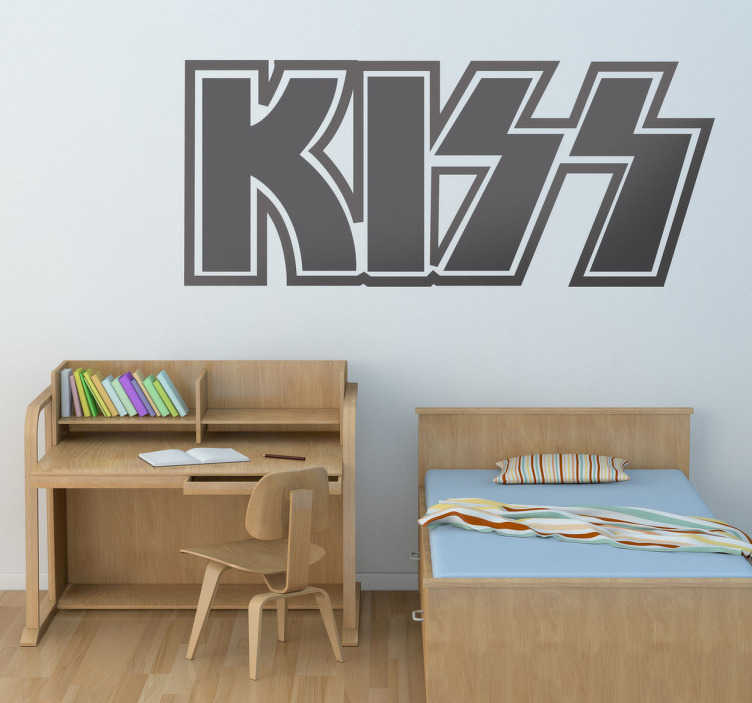 TenStickers. Wandtattoo Logo Kiss. Dekorieren Sie Ihr Zuhause mit einem Wandtattoo der Erfolgsband Kiss, die die Rockgeschichte geprägt hat! Der Aufkleber ist leicht