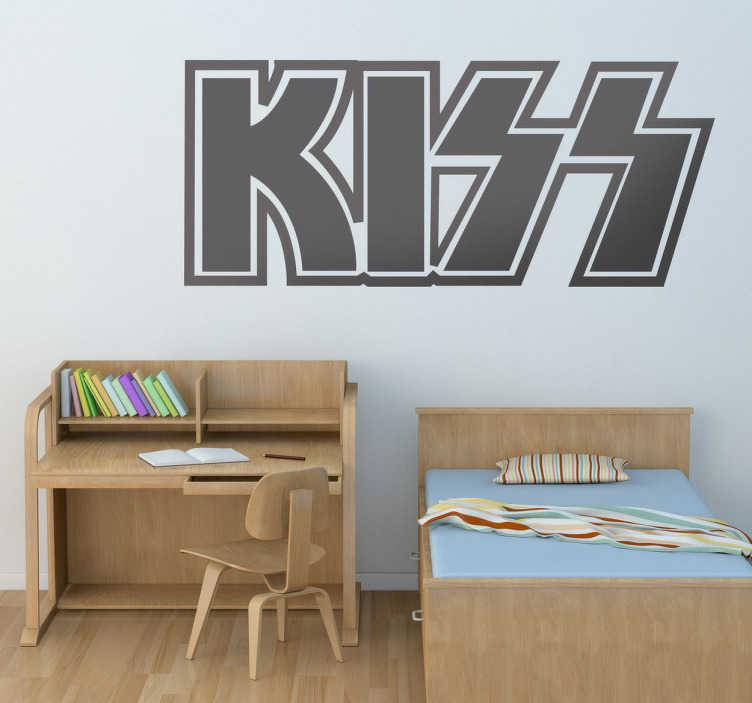 Vinilo decorativo logo Kiss