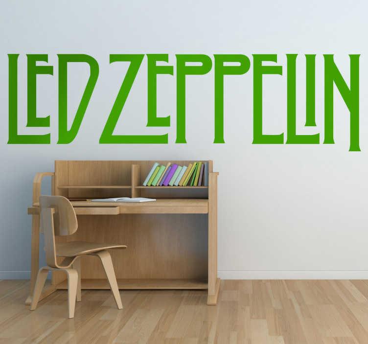 TenVinilo. Vinilo decorativo logo Led Zeppelin. Adhesivo de uno de los grupos de rock más importantes en la historia de la música y uno de los más populares en la década de los 70.
