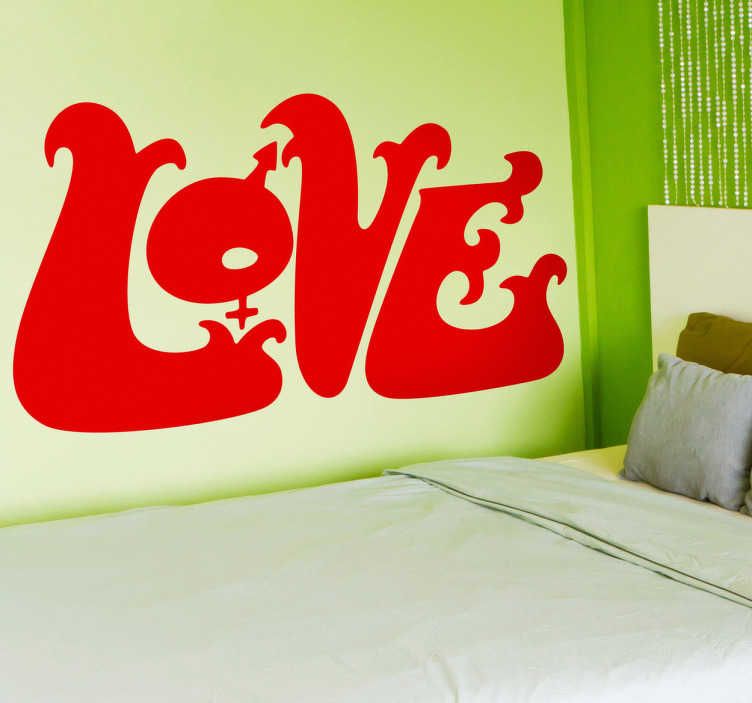 Vinilo decorativo logo Love