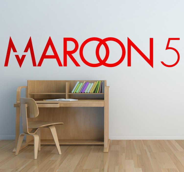 Vinilo decorativo logo Maroon 5