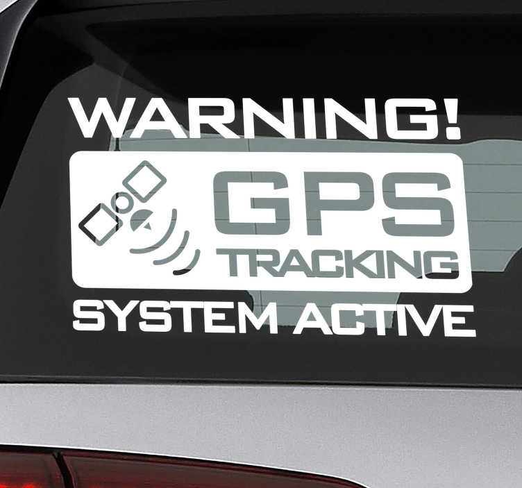 TenStickers. Gps tracking Car Decal.  Gps tracking icon car Sticker for your vehicles, trucks and van. Design created with high quality matte and very easy to apply on the surface.