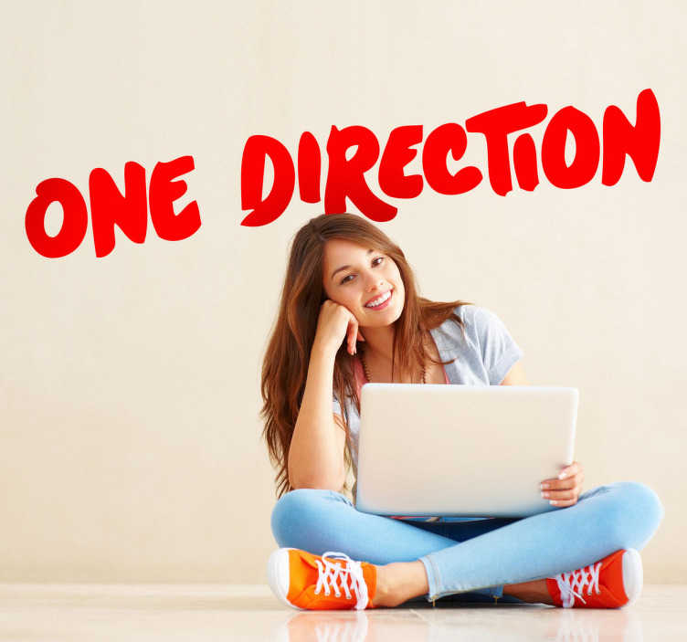 "TenStickers. One Direction Wall sticker. A wall sticker of the famous British boy band ""One Direction"". Decorate your room with this amazing sticker."