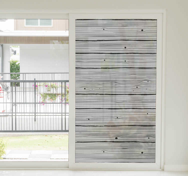 TenStickers. Wood pattern window decal. A decorative ornamental wooden texture patterned window sticker to beautify the surface of your windows at home. This design is very easy to apply.