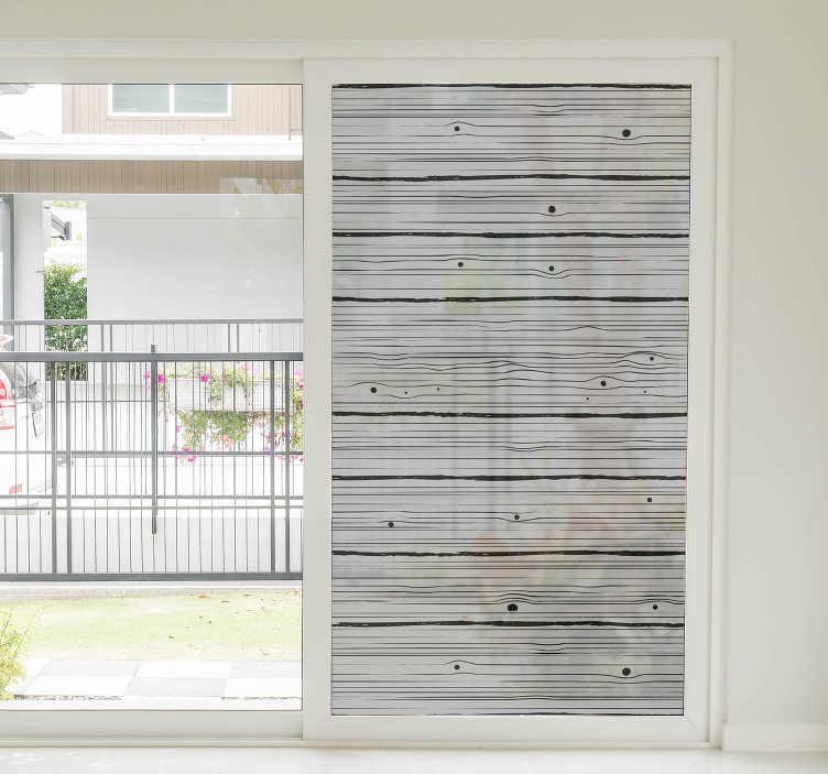 TenStickers. Nalepka okna iz lesa. Okrasna nalepka za okna z okrasnimi lesenimi teksturami, s katerimi polepšate površino oken doma. Ta zasnova je zelo enostavna za uporabo.