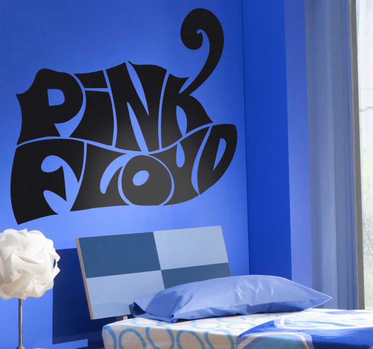Autocollant mural logo pink floyd tenstickers for Autocollant mural