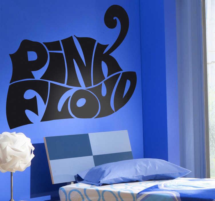 TenStickers. Sticker psichedelico logo Pink Floyd. Wall stickerche raffigura illogodel famosissimogruppo rockinglese; una dellebandpiù importanti della storia dellamusica: iPink Floyd!!!Rendi la tua camera più rock con questoadesivo murale