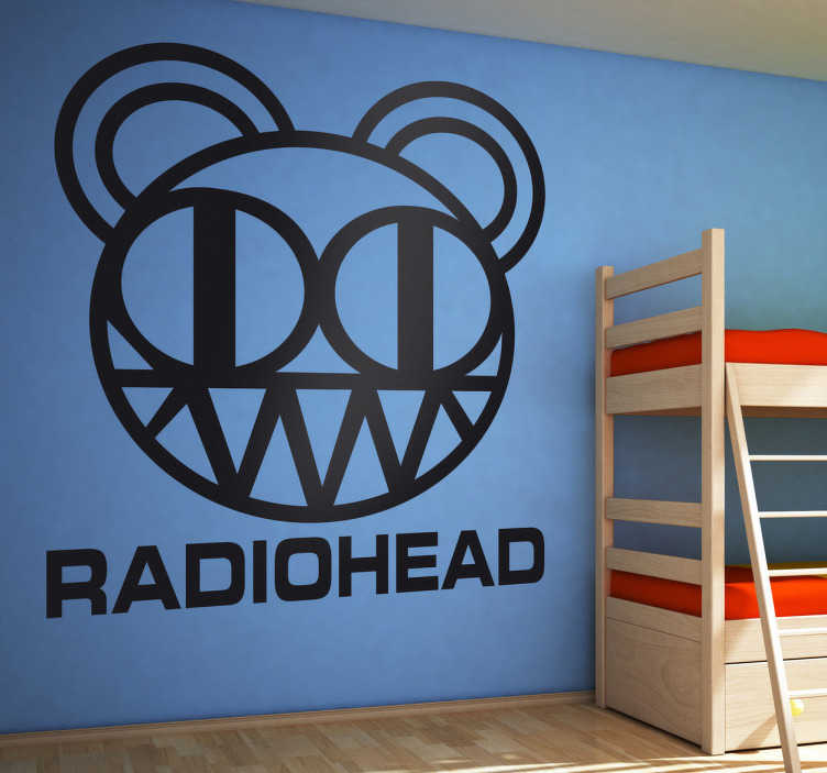 TenStickers. Sticker decorativo logo Radiohead. Adesivo murale raffigurante il logo della nota rock band britannica, i Radiohead. Ideale per i fan di questo gruppo musicale.