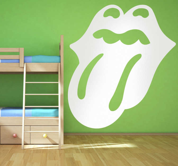 Vinilo logotipo lengua rolling stones tenvinilo for Vinilos decorativos grupos musicales