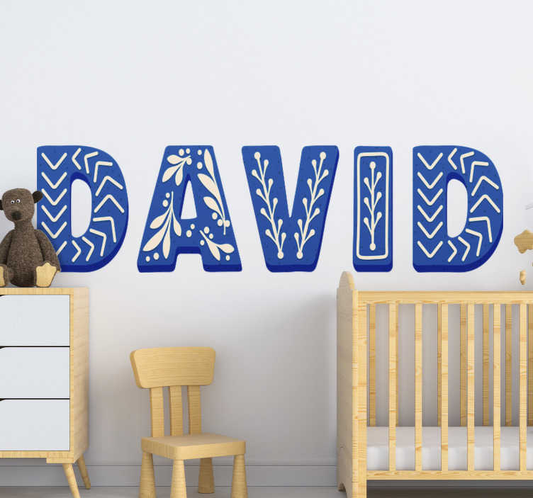 TenStickers. Customizable name Childrens Bedroom Wall Sticker. A custimisable child's alphabet name sticker that can be created with the name of your child. This design is easy to apply and you can chose the size.