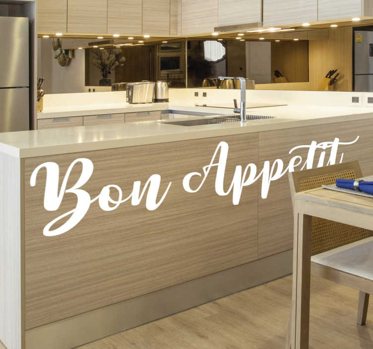TenStickers. Style furniture  decal. Furniture text decal for kitchen that you can use to decorate the surface of your kitchen furniture.This design you can cut and apply how you want it.