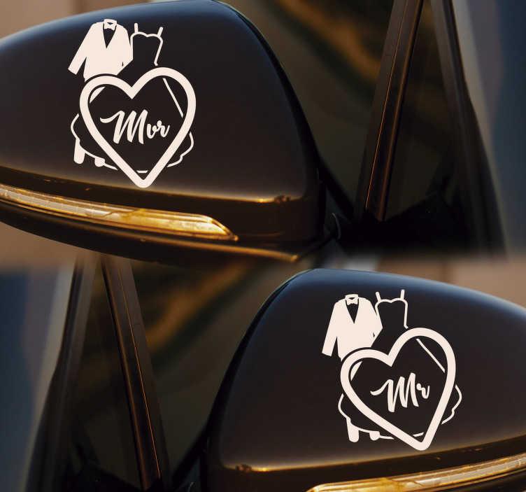 Bruiloft Decoratie Auto Sticker Tenstickers