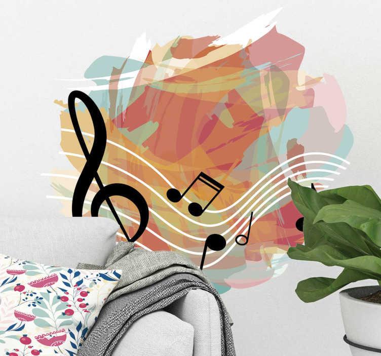 Vinilo decorativo músico