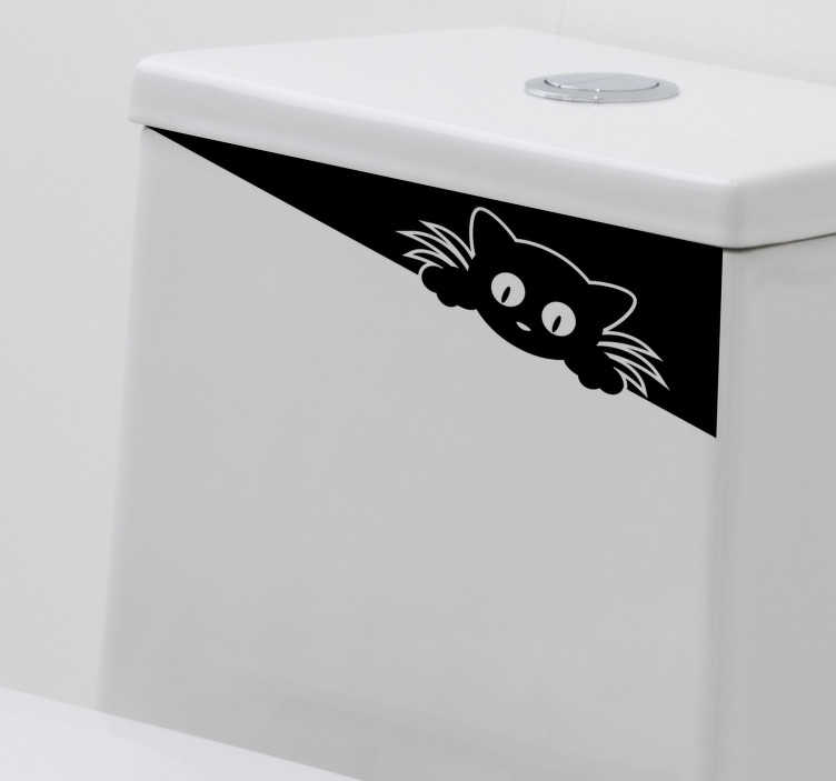 TenStickers. Funny draw for toilet  decal. Funky funny drawing sticker for toilet closet or sink. This design will always make you laugh whenever you use the toilet. It is easy to apply .