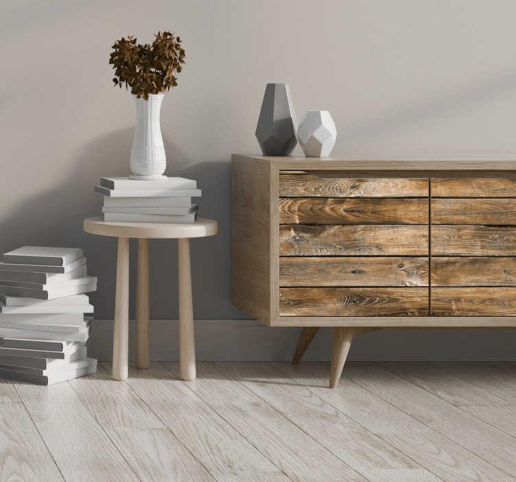 TenStickers. 老式木纹家具贴花. 您可能会喜欢在家里装饰家具的木质花纹家具表面置物架的原始外观。这种设计易于应用。