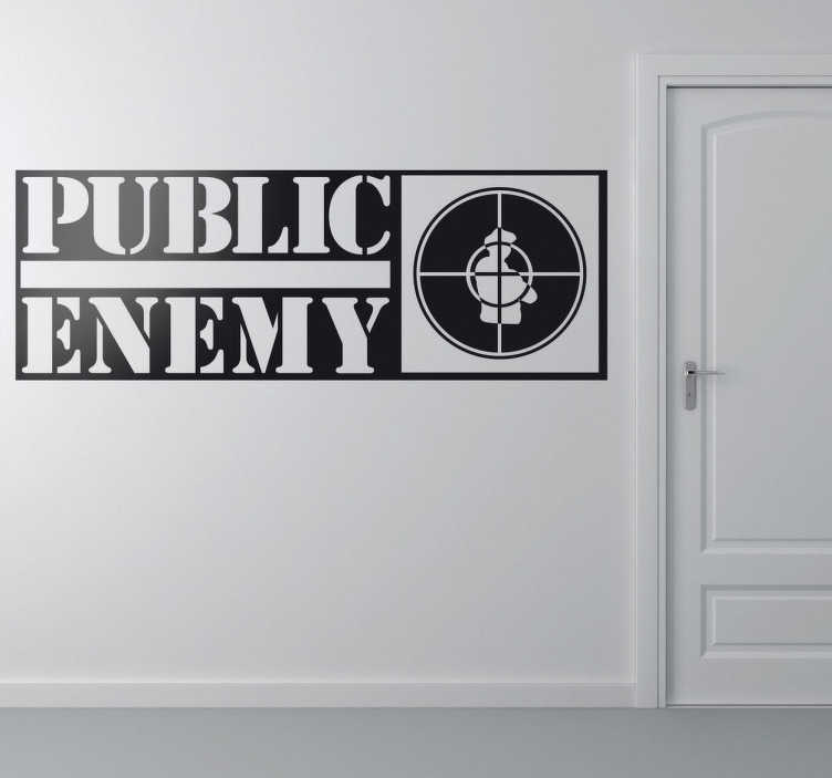 Sticker logo Public Enemy