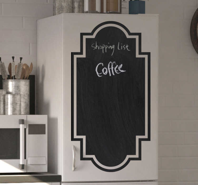 TenStickers. Blackboard Home Appliances sticker to write on. A wall decal you can write on, designed for your kitchen appliance to write menu, shopping list and what you desire for your family. Easy to apply.