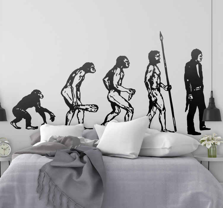 TenStickers. Human Evolution Wall Sticker. Room Stickers - illustration based on the human evolution. Choose the size and colour you would prefer.