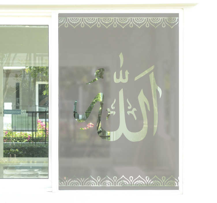 TenStickers. Arabic window film window decal. An ornamental window decal of an Arabic film created with special ornamental style that you will love. This design is very easy to apply.