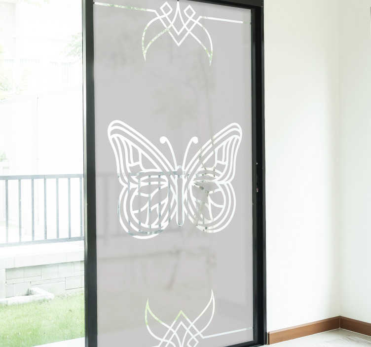 TenStickers. Decoration butterflies window decal. A butterfly window decal design created in translucent form that you will love the appearance it will make on the surface. Easy to apply design.