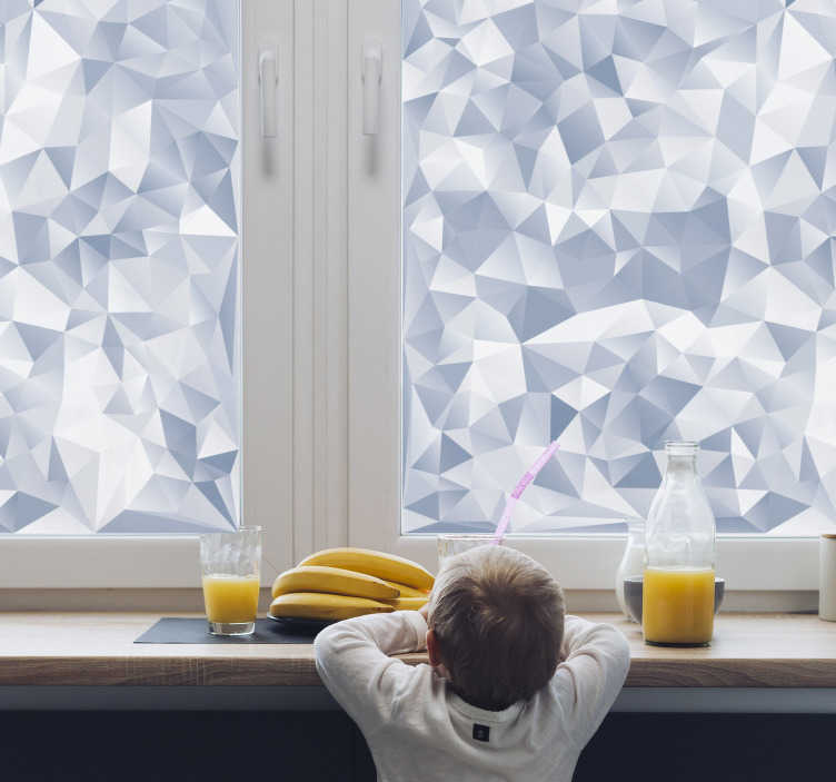 TenStickers. Irregular forms window decal. Buy our easy to apply self adhesive diamond patterned window decal to decorate the surface  of your window at home. You can have it in any size.