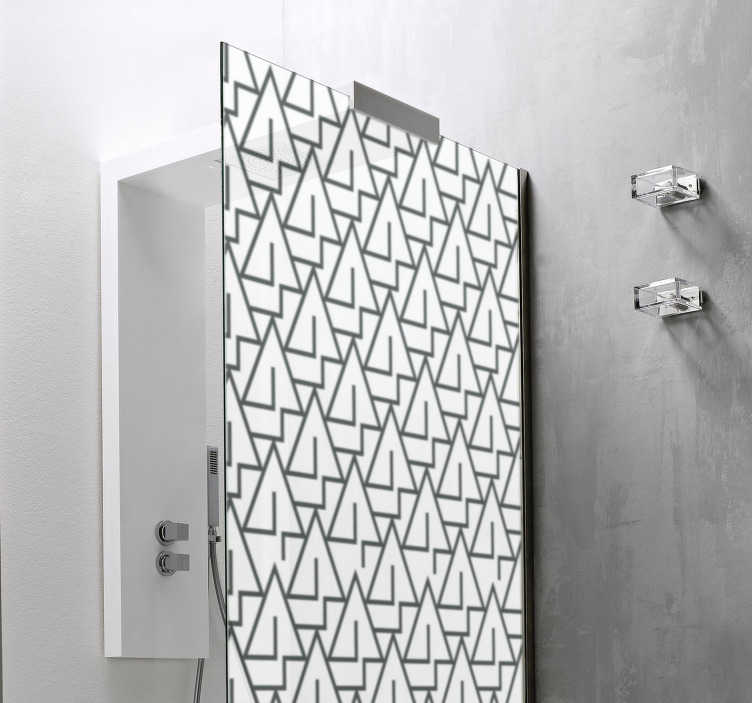 TenStickers. Triangles shower sticker. Decorate the surface of your shower door with this our triangle shower screen sticker created in multiple of triangle that you will love.