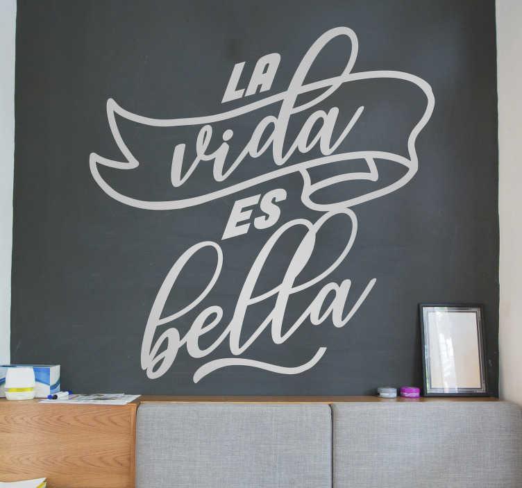 TenVinilo. Vinilo pared frase motivacional. Vinilo motivacional de texto creado con un estilo muy bonito y destacado que te encantará decorar tu pared en casa.