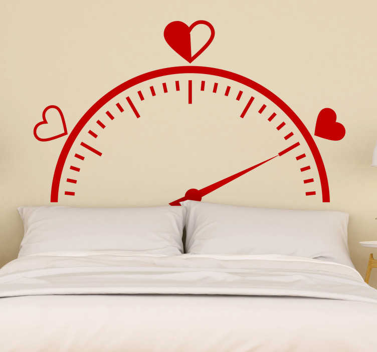TenStickers. Love tachometer headboard wall decal. Tick tick says the clock! and we have this love tachometer headboard bedroom wall decal to decorate and  wake you up with love in the bedroom .