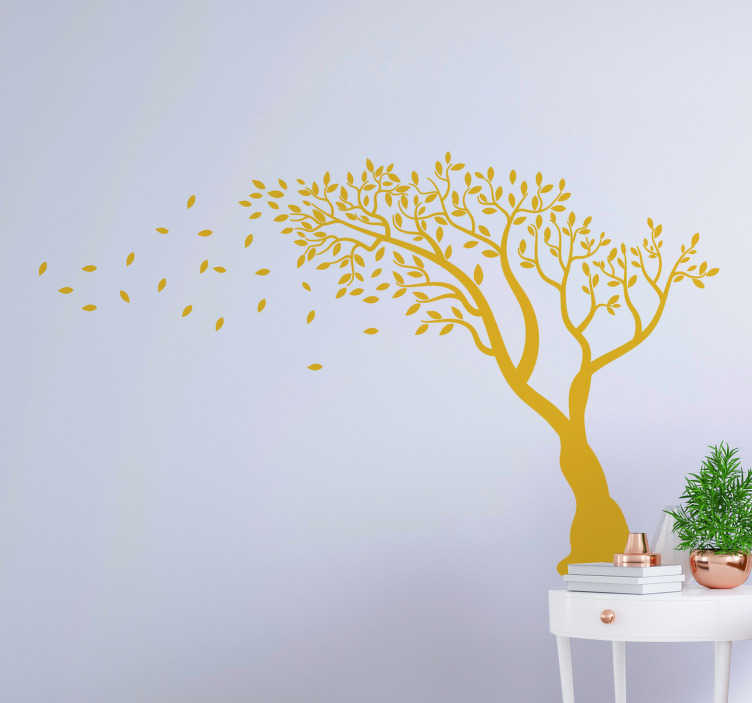 TenStickers. Autumn tree sticker tree wall decal. Easy to apply wall art decal of an autumn tree that you can have in any colour and size of your preference. This design will beautify your home.