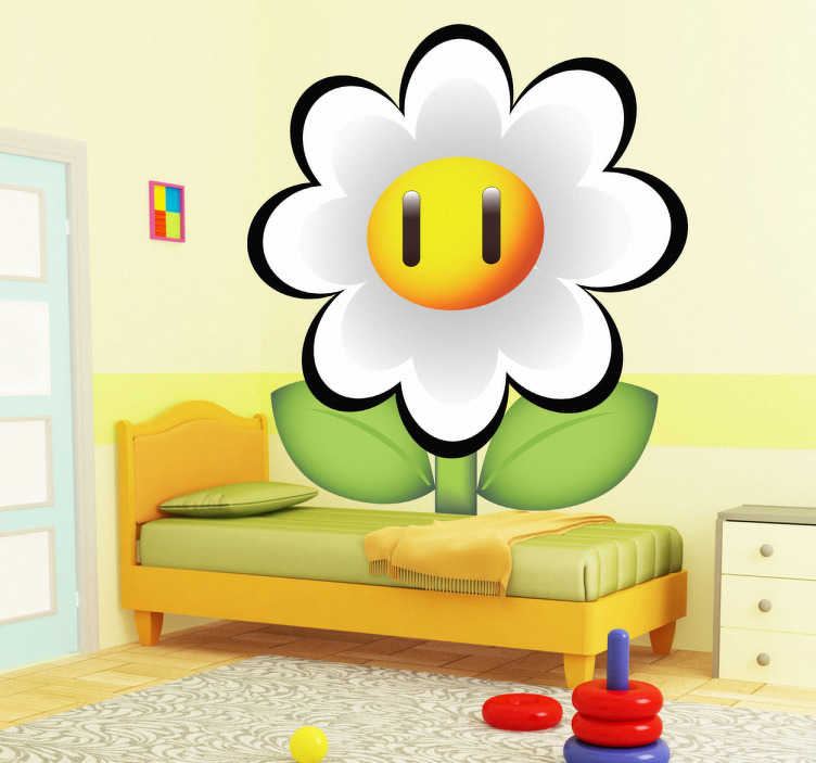Sticker enfant marguerite Mario Bros