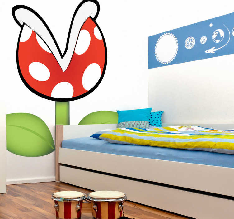 sticker super mario plante carnivore tenstickers. Black Bedroom Furniture Sets. Home Design Ideas