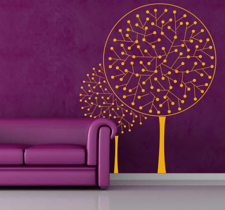 TenStickers. Naklejka na ścianę drzewo atom. Oryginalna naklejka na ścianę przedstawiająca drzewo przyszłości nawiązujące do szeroko pojmowanego świata nauki.