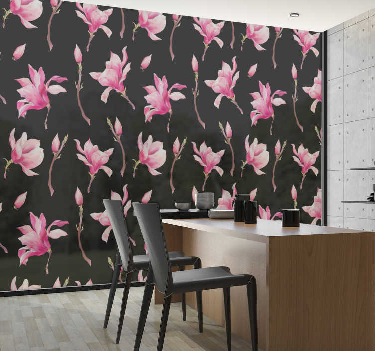TenStickers. Magnolia plant decoration window decal. Add a touch of beauty to window surface in the home with our magnolia plant window vinyl sticker that is designed in colourful style to please you.