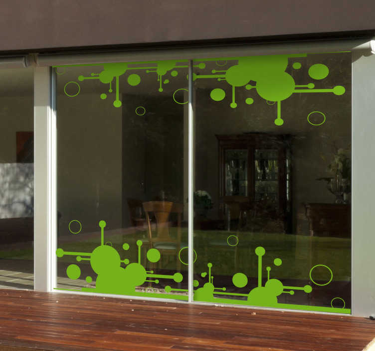 TenStickers. Sticker futuristische kringen. Deze muursticker kan goed gebruikt worden om een moderne omgeving te creëren door de futuristische vormen en kringen.
