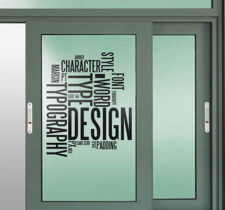 TenStickers. Graphic Concepts Sticker. A sticker filled with graphical concept words. Superb decal to decorate walls, doors or any surface of your office.