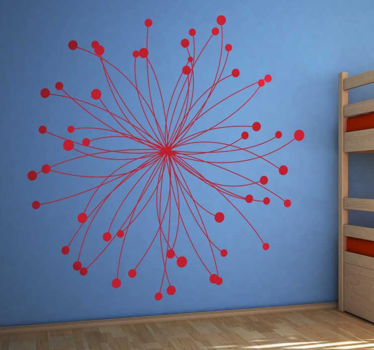 TenStickers. 原子贴纸. 科学墙贴 - 科学爱好者的原子贴花!可以用作学校墙贴或科学实验室贴纸。