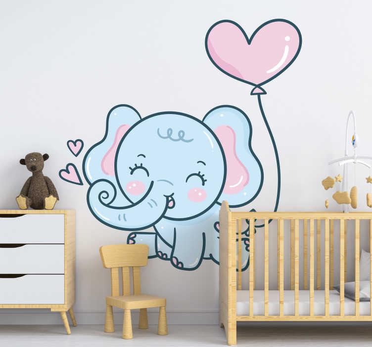 Elefantenbaby Mit Herzen Wandtattoo Kinder Tenstickers