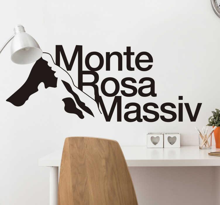 TenStickers. adhesif deco massif de monte rosa. stickers muraux ville de silhouettes du massif du monte rosa idéal pour décorer n'importe quelle surface plane dans n'importe quelle option de taille que vous souhaitez. Disponible en différentes couleurs.