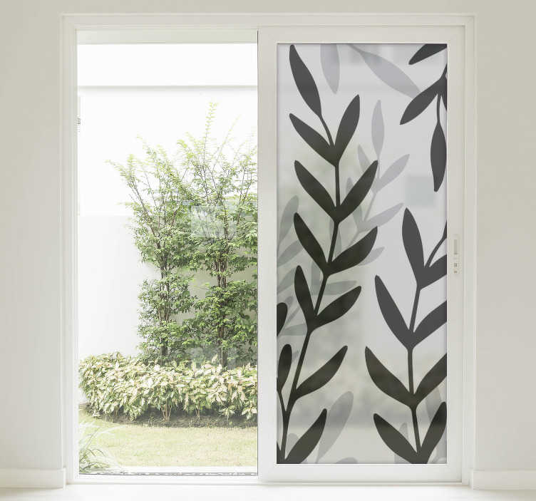TenStickers. Translucent sheet of plants window decal. Window vinyl decal of transparent plant sheet to beautify the surface of any window space, be it in the home, office and school.